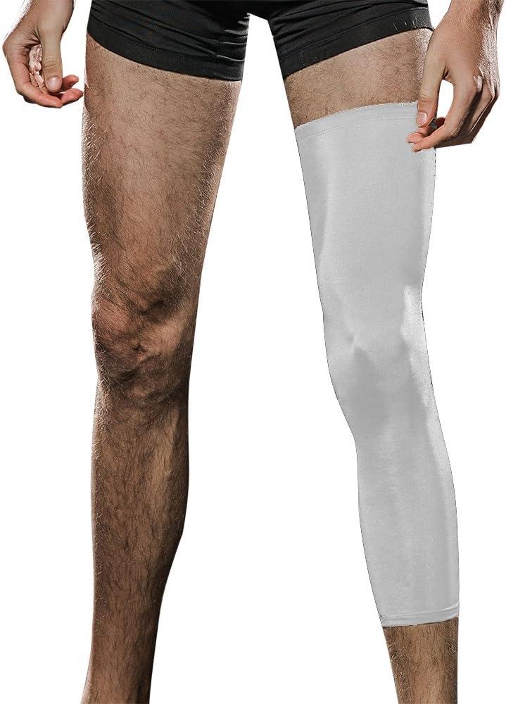 veadoorn 1個バスケットボール圧縮脚スリーブゴムユニセックスバスケットボール膝パッド ホワイト Large
