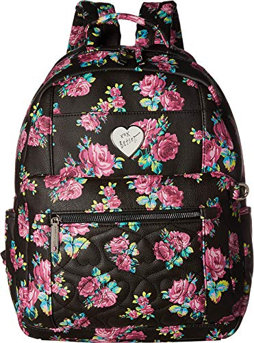 - Betsey Johnson Women's Backpack with Pouch Floral One Size