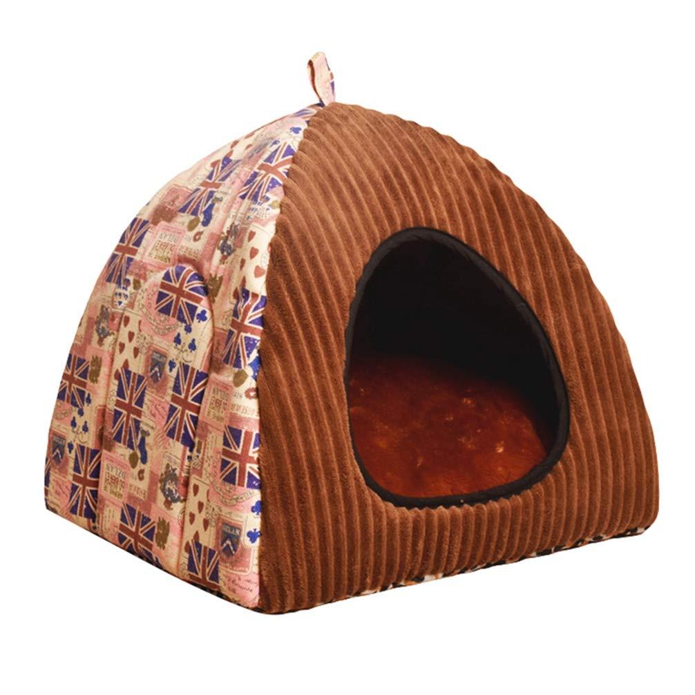 JEELINBORE Estampado Casa para Mascota Plegable Suave Cama para Perro o Gato (L: 40 * 40 * 40CM, Búho #Negro): Amazon.es: Hogar