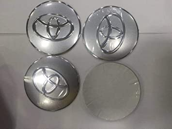 TOYOTA 4 pcs 65mm Car Styling Accessories Emblem Badge Sticker Wheel Hub Caps Centre Cover