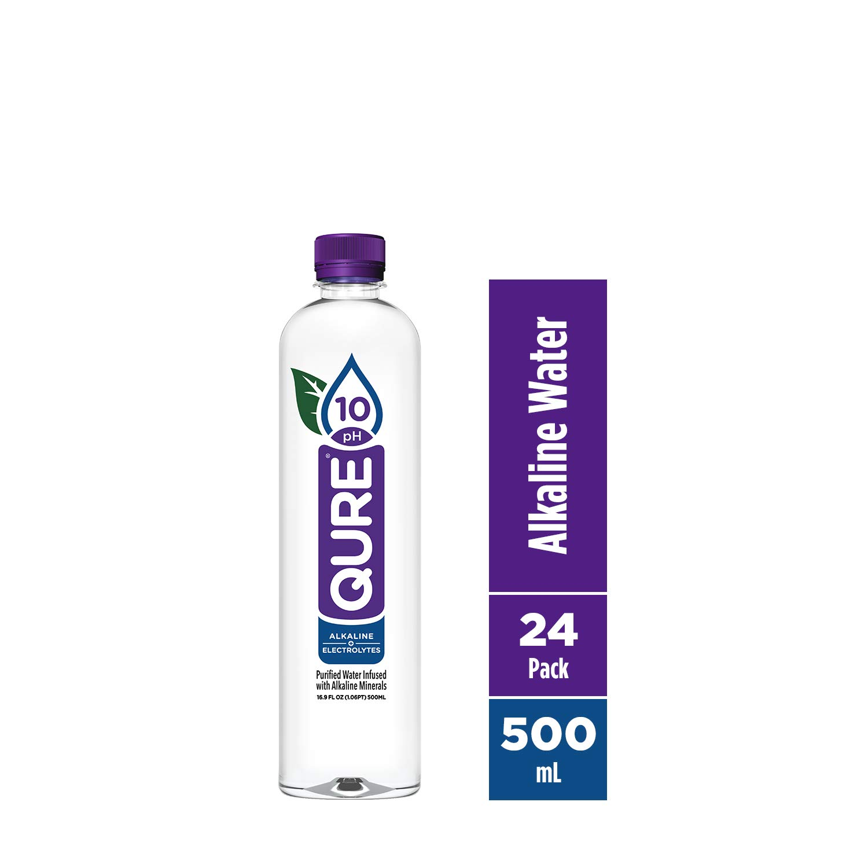 Qure Alkaline Water, 16.9 Fl Oz (Pack of 24)