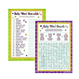 Adorox Baby Shower Party Game Scramble Word Search Game (1pkg) (Scramble/Word Search)