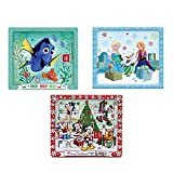Kurt Adler Disney 1 Set 3 Assorted Finding Dory, Frozen And Mickey And Friends Christmas Advent Calendars