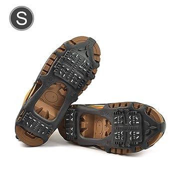 Agarres de Hielo Antideslizantes para Mujer, 24 Tacos de tracción para Zapatos/Botas de