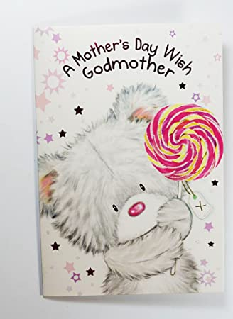 MOTHER/'S DAY Card ~ QUALITY ~ Mothers Day  Bear and Boxes Design GODMOTHER