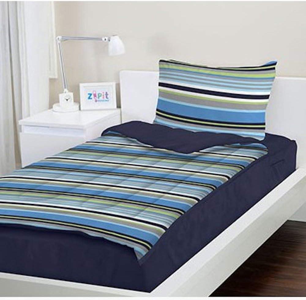 TVTime Direct ZIPIT Bedding Set (Navy Stripes) S Queen