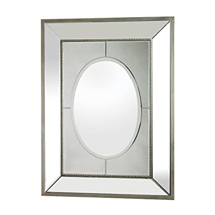 Amazon.com: Sterling Large Mirror Set in a Heavy Mirrored Frame ...
