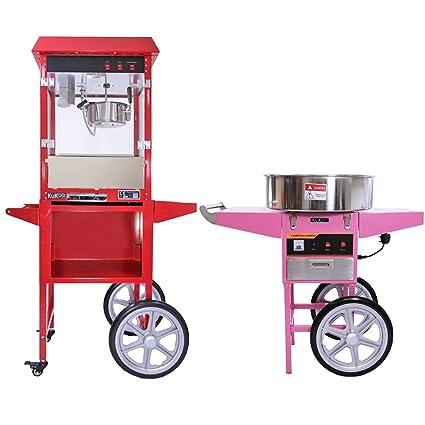 KuKoo - Máquina para Hacer Palomitas de Maíz y Máquina para Hacer Algodón de Azucar con