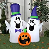 Halloween Airblown Inflatable 5ft. Ghosts and Pumpkin Scene by Gemmy Industries