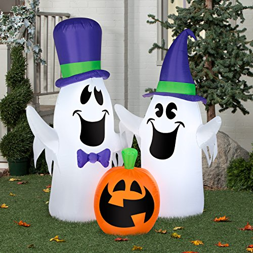 Airblown Inflatable Ghosts and Pumpkin Scene by Gemmy Industries
