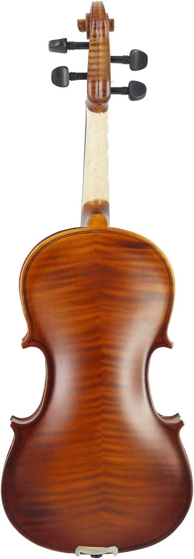 HVTKLN 秦氏の初心者が適用バイオリンの弓のロジンの三角形を実践する学生とタイガー合板バスウッド HVTKLN (Color : Brown, Size : 1/2)