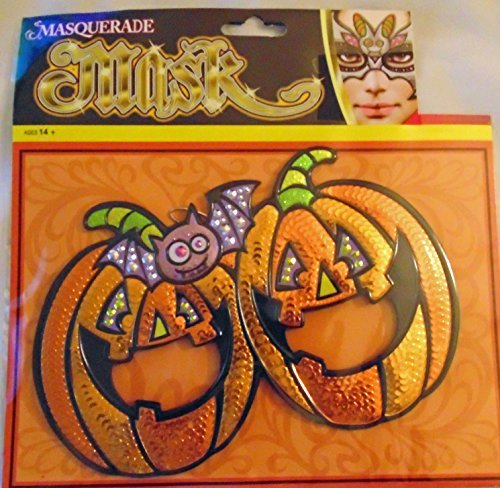 Nantucket Home Halloween Masquerade Mask, Pumpkin - O-lantern Jack Mask