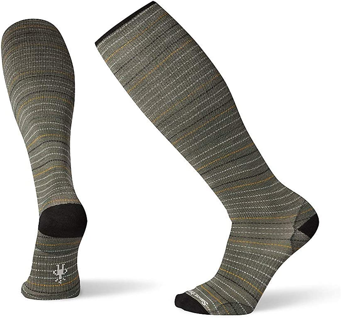 Men/'s Cruisin/' Along Print Merino Smartwool Compression Over-the-Calf Socks