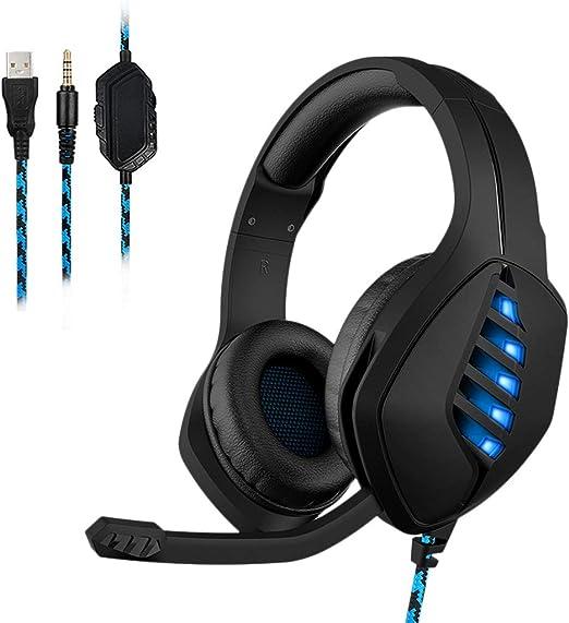 VAILANG Gaming Headset para Auriculares con Cable PS4 para PS4 ...