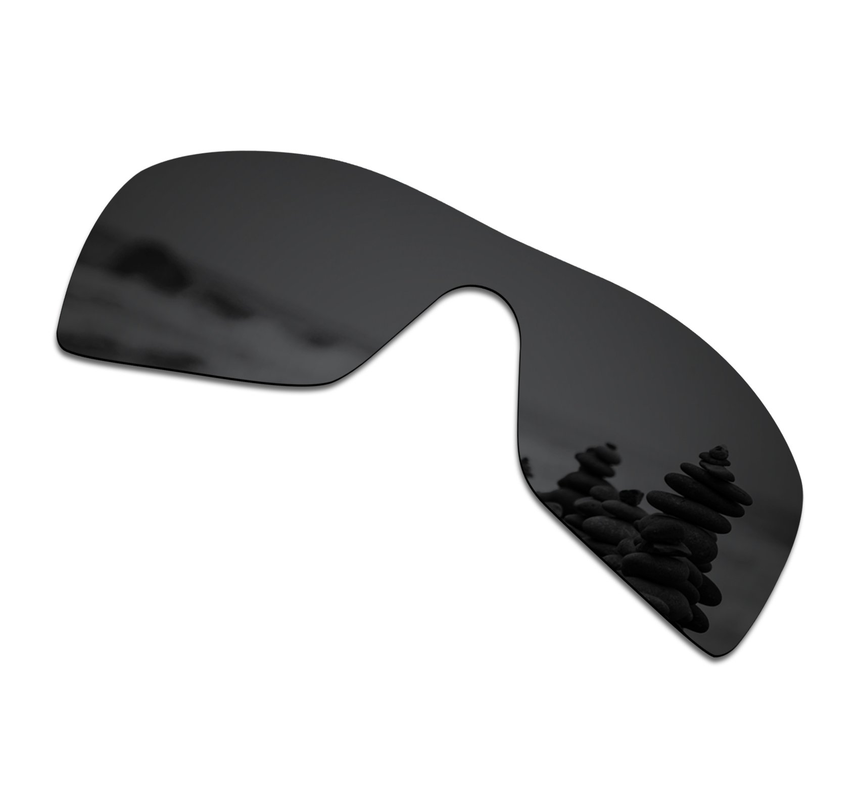 fda25dd697e SmartVLT Men s Stealth Black Replacement Lenses for Oakley Batwolf Sunglass
