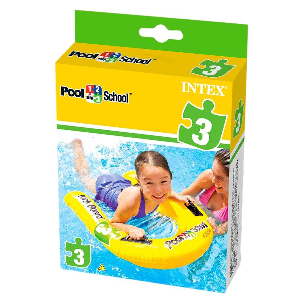 Intex 1-2-3 Pool School Inflatable Kick Board Float Swimming Aid #58167