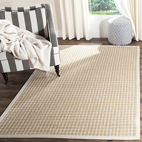 Safavieh Natural Fiber Collection NF472A Hand Woven Light Grey Wool & Sisal Area Rug (9