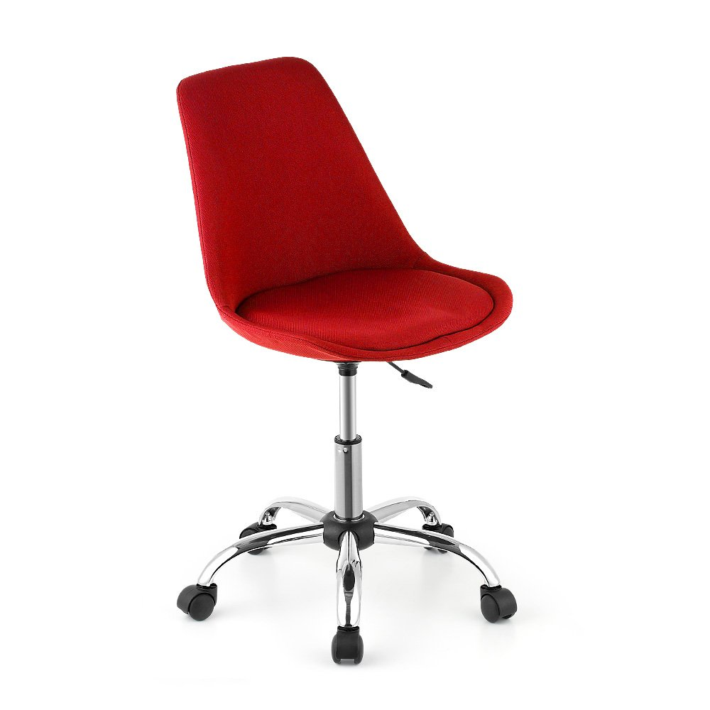 iKayaa Swivel Task Chair Padded Seat Adjustable Pneumatic Study Computer Shell Stool
