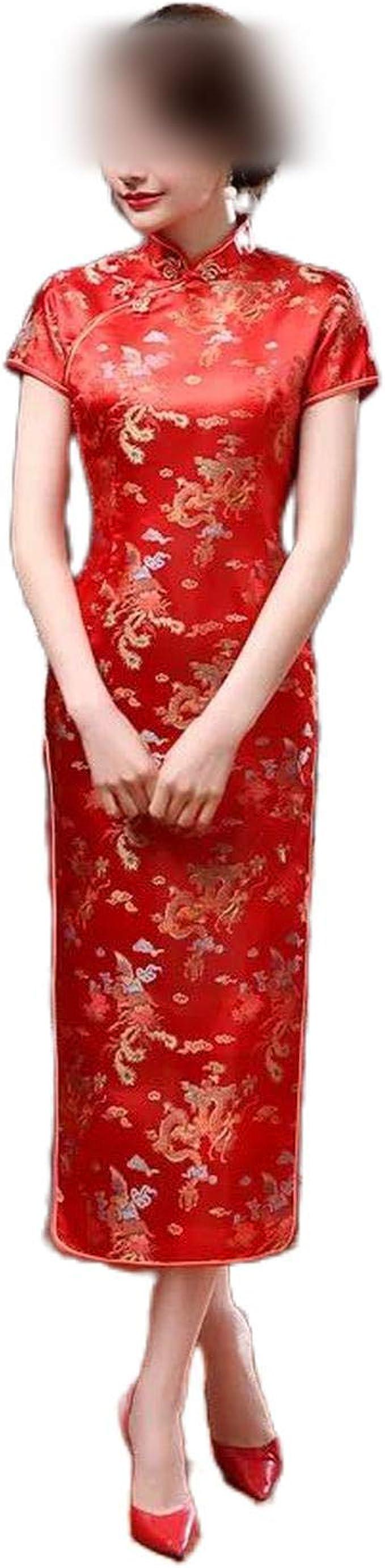 Qipao Plus Size S 20Xl Traditional Chinese Dresses Cheongsam Dragon ...