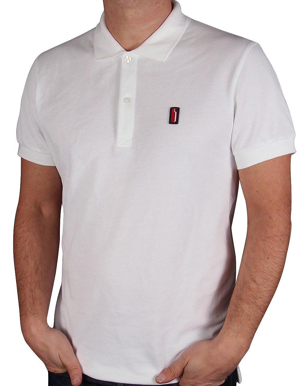 Ellesse - Polo - Clásico - para Hombre Blanco Blanco Small: Amazon ...