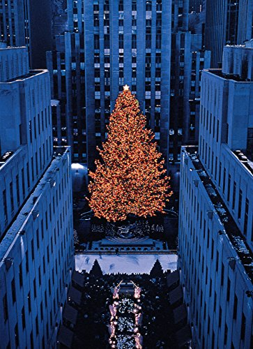 Rockefeller Center Tree New York City Christmas Holiday Boxed Cards Set of 12 Cards and Envelopes. Made in U.S.A.