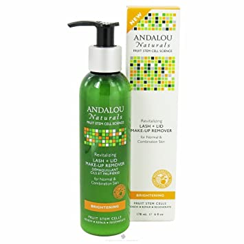 Andalou Naturals Revitalizing Lash Plus Lid Make-Up Remover, 6 Fluid Ounce Clarifying Cleanser 6.76oz