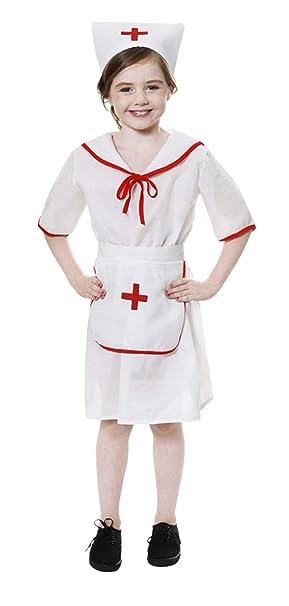 Girl - Disfraz de enfermera para niña, talla M (7-9 años) (U24013)