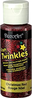product image for DecoArt Craft Twinkles Paint, 2-Ounce, Christmas Red