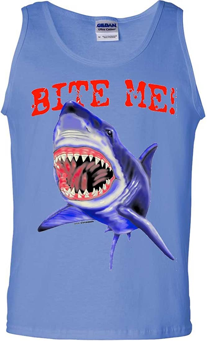 Bite Me Great White Shark Asst Colors Tank Top