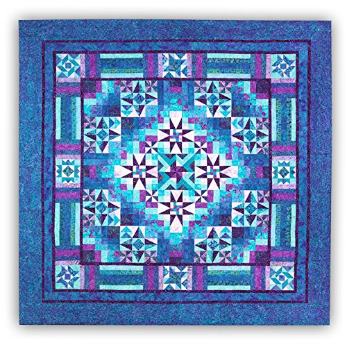 Mystical Prism Quilt Kit by Wing and a Prayer - King Size - 100% Hand Dyed Batiks ()