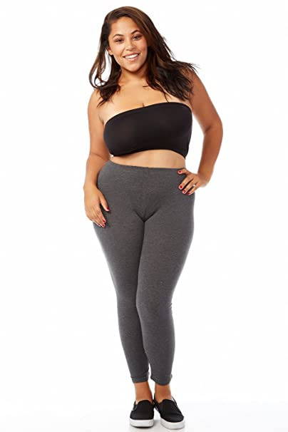 c5720c767f1 Image Unavailable. Image not available for. Color  Bozzolo Plus Size Long  Leggings (3xl ...