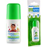 Mamaearth Easy Baby Tummy Roll On for Digestion & Colic Relief with Hing & Fennel 40Ml änd Anti Mosquito Fabric Roll On, 8ml