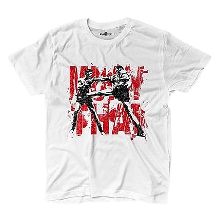 KiarenzaFD Muay Thai Clinch Boxing Fighter Ring MMA Martial Arts - Camiseta de Manga Corta,