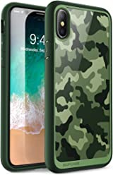 SUPCASE iPhone X, iPhone XS Case, [Unicorn Beetle Style] Premium Hybrid Protective Clear Case for Apple iPhone X 2017/ iPhone XS 2018 Release (CamoGreen)