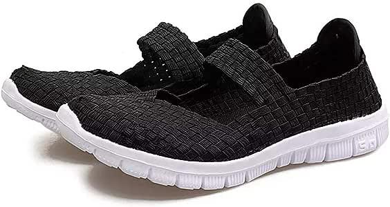 MiaZhou Mujer sin Cordones Ligero Elástico Zapatillas Deportivas Agua Zapatillas Verano - Negro, 37: Amazon.es: Hogar