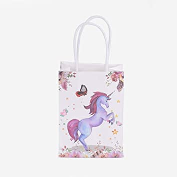 Amazon.com: Bolsa de papel Kraft con asas de unicornio ...