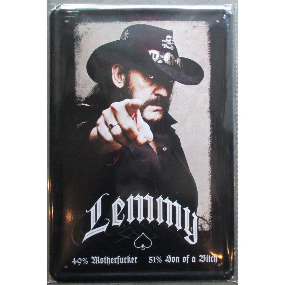 hotrodspirit - Plaque Lemmy Motorhead Groupe Hard Rock 30x20 cm Deco Affiche pub loft