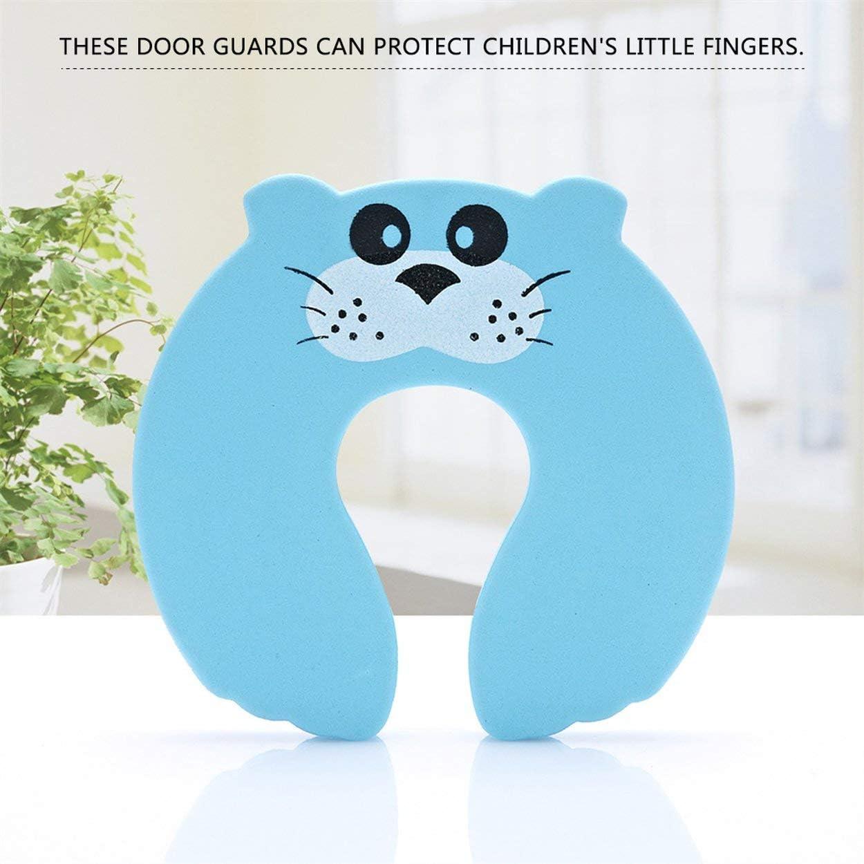 Lorenlli 2Pcs Kids Baby Cartoon Animal Jammers Stop Door for Children Guards Door Stopper Holder lock Safety Finger Protector