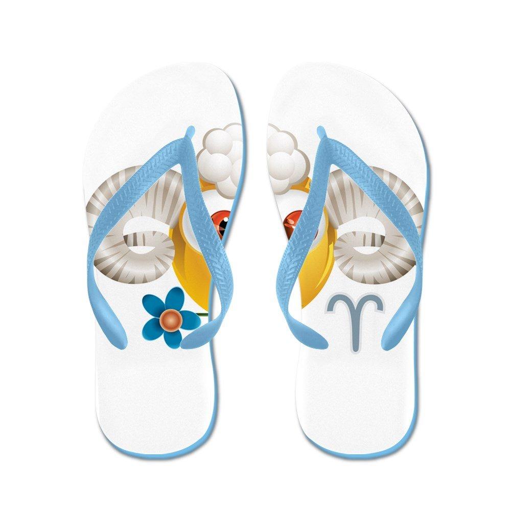 4e86a6ba8d300 Amazon.com  Truly Teague Women s Smiley Face Zodiac Aries Rubber Flip Flops  Sandals  Clothing