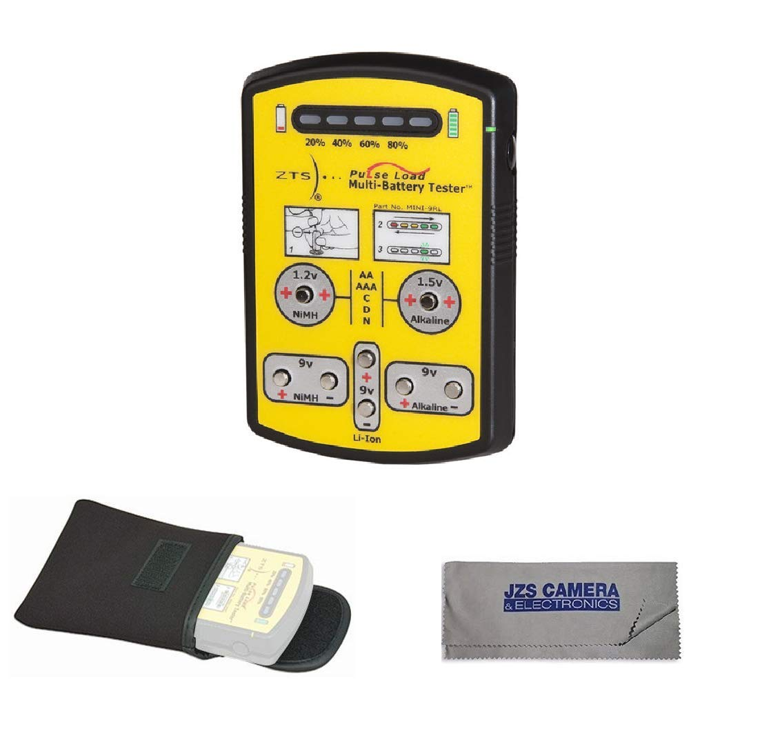 ZTS Mini-9RL Multi Battery Tester With Carrying Case & Cleaning Cloth