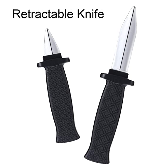 Amazon.com: 12 cuchillos falsos y retráctiles de plástico ...
