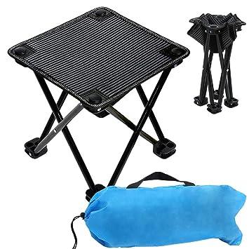 Amazon.com: VeMee Taburete compacto para campamento, mini ...