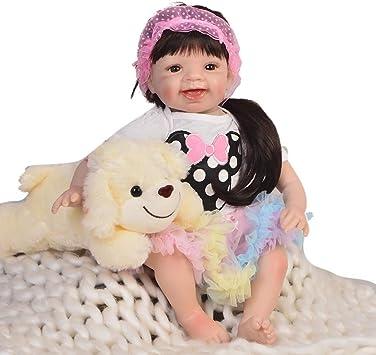 Soft Silicone 22/'/' Reborn Toddler Doll Lifelike Baby Vinyl Newborn Doll Xmas Toy