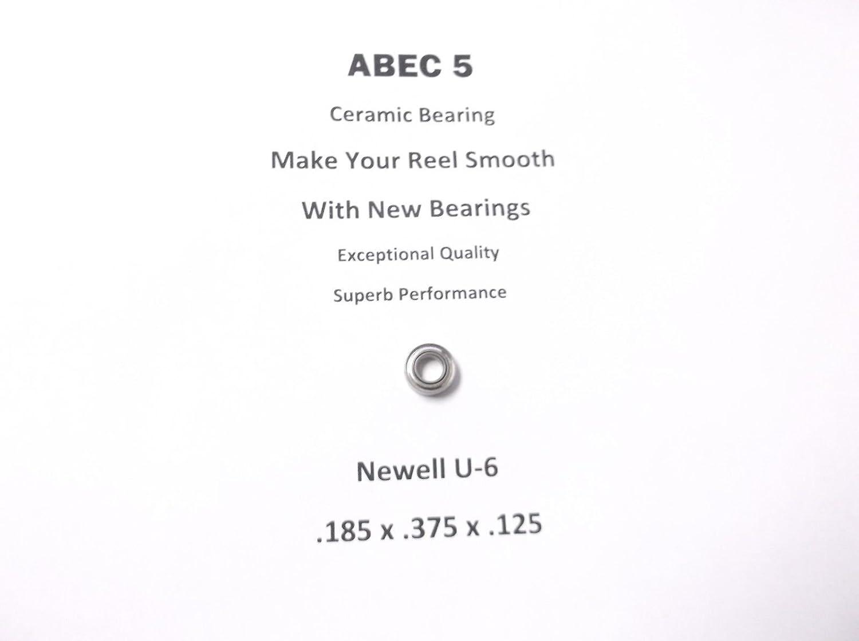 NewellリールパーツC 533 3.2 u-6 ABEC 5セラミック軸受.185 X 0.375 X 0.125 # 17   B079571P15