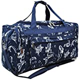 Mermaid Print NGIL Canvas Carry on Shoulder 23'' Duffle Bag