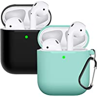 Deals on 2PK Compatible with AirPods Case Cover Silicone Protective Skin