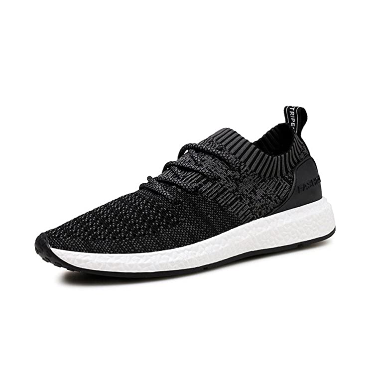 Zengvee Mens Running Shoes Casual Fashion Sneakers Breathable Knit Athletic Sports Shoes  B0752BLB2J