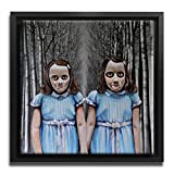 David Irvine Signed Authentic Official Pop Art Twins the Shining Kubrick Framed Canvas Wall 26in FCNVSQMDRV020