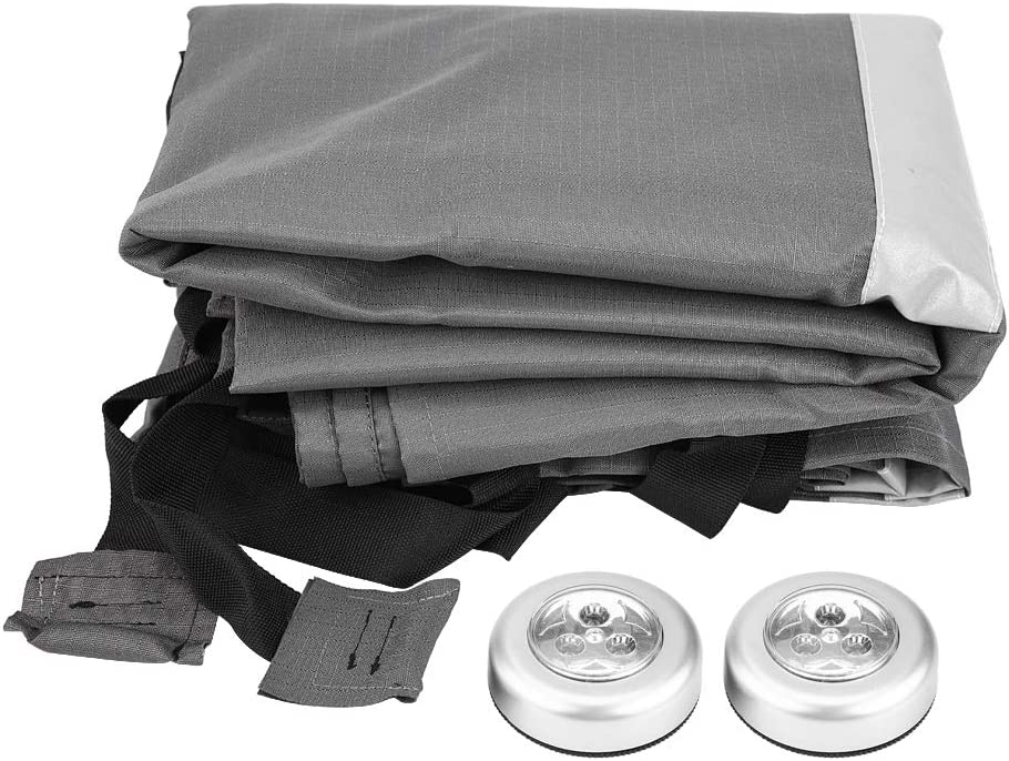 Small Universal Fit All Years Water Resistant Breathable Caravan Cover Black