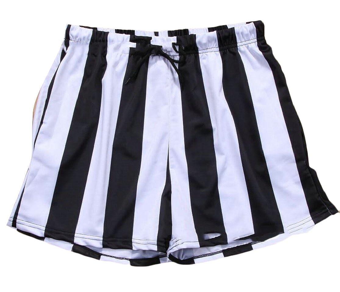 M/&S/&W Mens Swimsuit Swim Trunks Watershort Swimwear Stripes Board Shorts